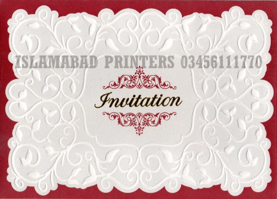 Wedding Cards Printing In Islamabad